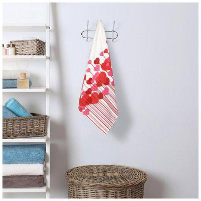 Cannon Valentine Red And White Medium Bath Towel 1 Pc