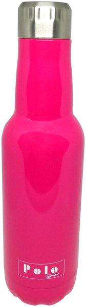 Polo Lifetime Stainless Steel Pink Water Bottle ( 500 ml , Set of 1 )