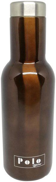 Polo Lifetime Stainless Steel Brown Water Bottle ( 600 ml , Set of 1 )
