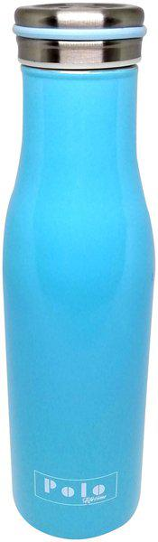 Polo Lifetime Stainless Steel Blue Water Bottle ( 360 ml , Set of 1 )