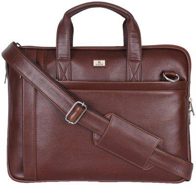 K London Brown Faux leather Messenger bag