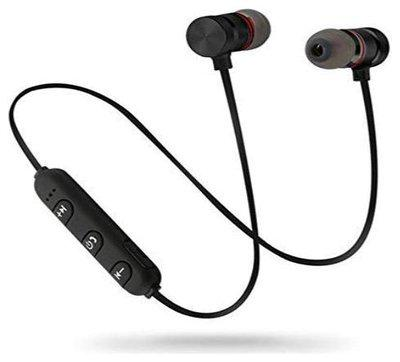Samsung Galaxy M30 Compatible Wireless Magnet Bluetooth Earphone Headphone with Mic, Sweatproof Sports Headset, Best for Running and Gym, Stereo Sound Quality with Ergonomic