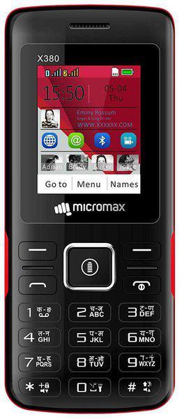 Micromax X380 Black;Red