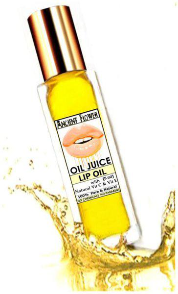 Ancient Flower Oil Juice Lip Oil With Natural Vitamin C & Vitamin E Lip Oil(8 Ml) Pack of 1