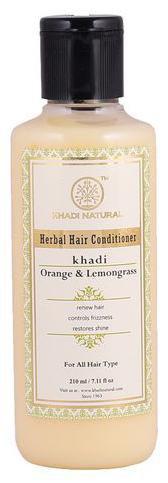 Khadi Natural Herbal Orange Lemongrass Hair Conditioner 210 ml