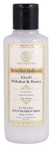 Khadi Natural Herbal Shikakai Honey Hair Conditioner - SLS & Paraben Free 210 ml
