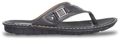 Bata Men's Jaguar Black Leather Athletic & Outdoor Sandals - 6 Uk (8646159)