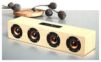 Live Tech Jalsa BS02 Wireless Wooden Speaker with Powerful Sound (Soft Maple Color)
