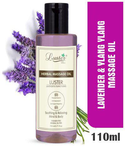 Luster Lavender & Ylang Ylang Herbal Massage Oil -110 ml