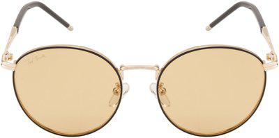 Ted Smith Polarized lens Round Frame Sunglasses for Men - Pack of 1