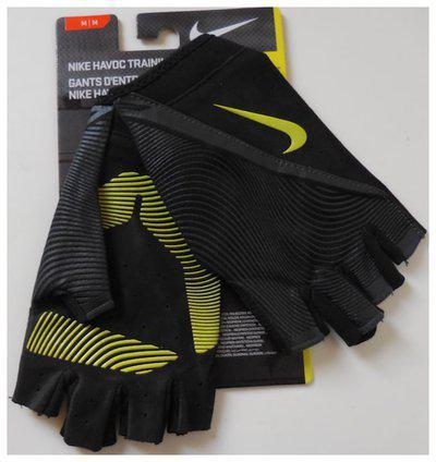NIKE Men's Havoc Training Gloves Color Black/Anthracite/Volt Size M New