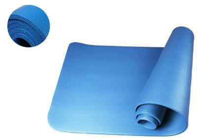 15mm Thick NBR Pure Color Anti-skid Soft Yoga Gym Fitness Mat 183x61x1.5cm Blue