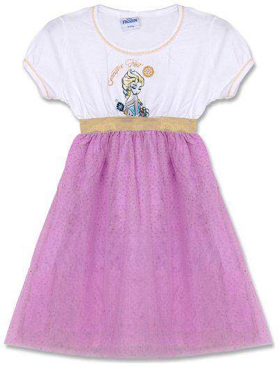 Disney Girls Midi/Knee Length Casual Dress(Multicolor, Cap Sleeve)