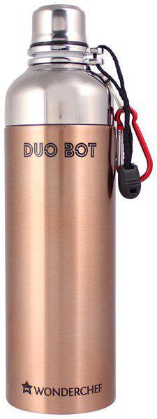 Wonderchef 1000 ml Stainless Steel Copper Water Bottles - Set of 1
