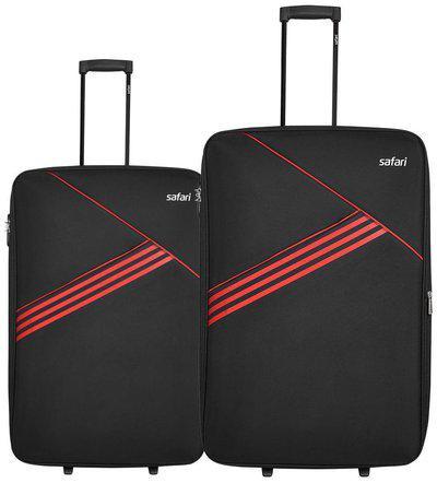 Safari Medium Size Luggage Set - Black , 2 Wheels