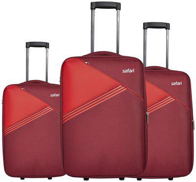 Safari Large Size Luggage Set - Red , 2 Wheels