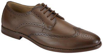 Park Avenue Solid Dark Khaki Coloured Synthetic Footwear (Size:- 10)