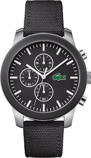 Lacoste L.12.12 Chronograph Black Colour Round Dial Men's Watch - 2010950