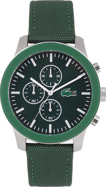 Lacoste L.12.12 Chronograph Green Colour Round Dial Men's Watch - 2010946