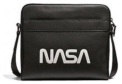 Coach Mens (F28319) Charles Camera Nasa Motif Leather Crossbody Bag Handbag