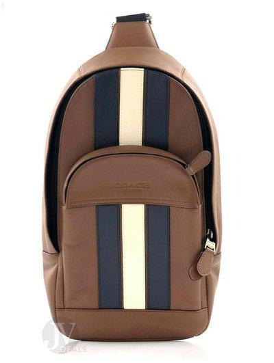 Coach Mens (F49318 F67249) Houston Messenger Varsity Stripe Sling Pack Bag