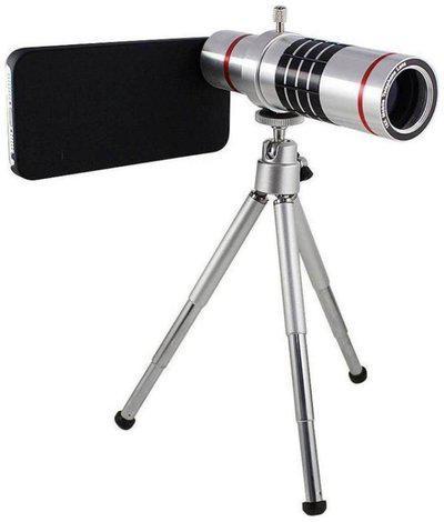 18X 4K HD Universal Zoom Mobile Phone Telescope Lens Telephoto External Smartphone Camera Lens with Tripod