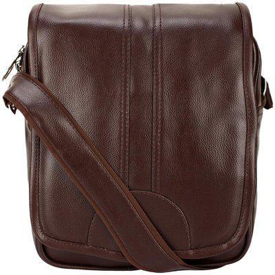 KAMVIEW Brown Faux leather Sling bag