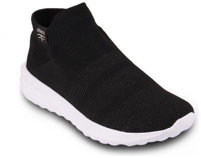 Franco Leone Men Mesh Black Sport Shoes