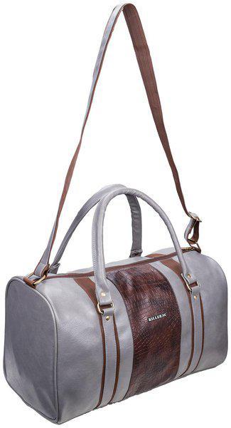 Cabin size Duffle bag - Killer Jamaica PU 30 Litre Stylish Grey duffle bag