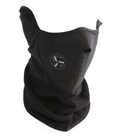 Marketwala Neoprene Anti Pollution Bike Face Mask Neck Warmer (Black) Pack of 1