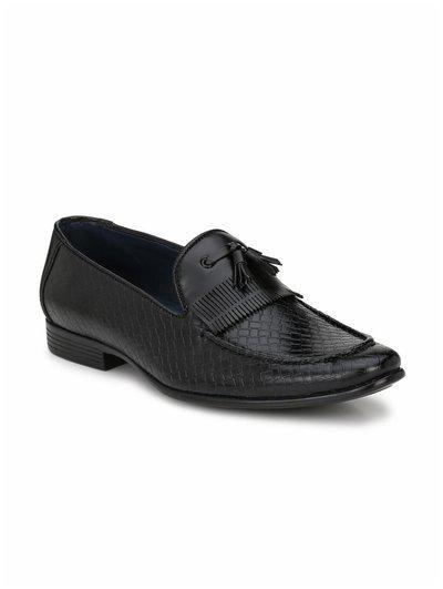 Guava Men's Black Leather Formal Shoes-7 Uk/india (41 Eu) (gv15ja528-7)