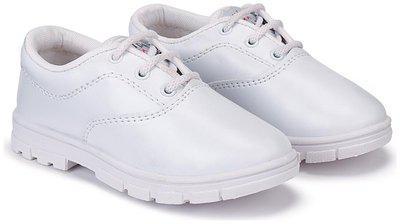 Swiggy White Boys School Shoes