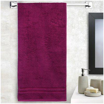 Welspun 380 GSM GSM Cotton Bath Towel ( 1 Piece , Purple )