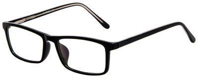 Cardon Black Rectangle Full Rim Eyeglasses for Men - Pack of 1
