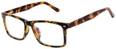 Cardon Brown Rectangle Full Rim Eyeglasses for Men - Pack of 1