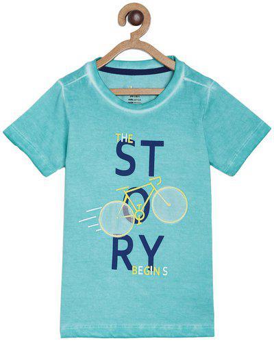 Tales & Stories Boy Cotton Printed T-shirt - Green