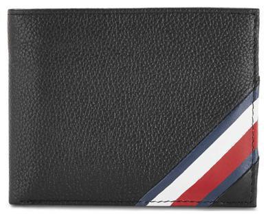 Tommy Hilfiger Men Black Genuine Leather Wallet(10 Card Slots)