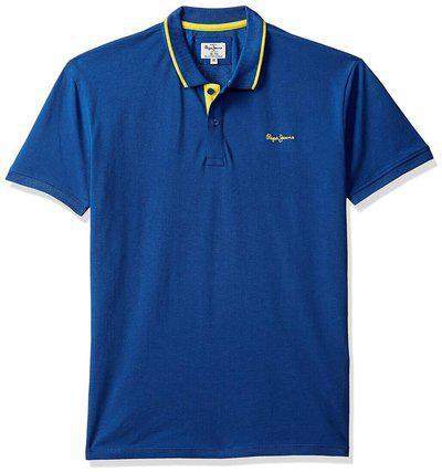 Pepe Jeans Boy Cotton Solid T-shirt - Blue