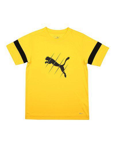 Puma Boy Polyester Printed T-shirt - Yellow