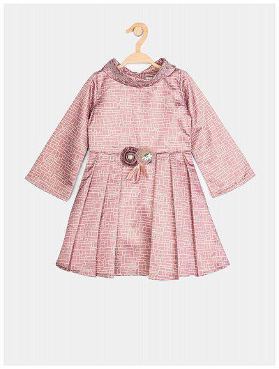 Peppermint Baby girl Polyester Embellished Princess frock - Purple