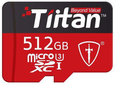 Tiitan 512 GB UHS-3 MicroSD Memory Card ( Pack of 1 )