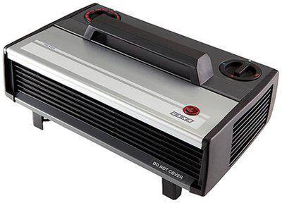 USHA 812-T Fan Room Heater (Black & Silver)