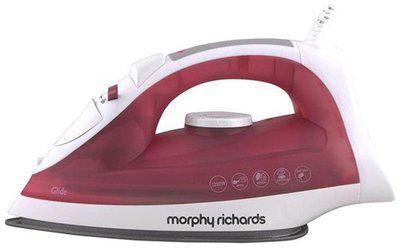 Morphy Richards Glide 1250 w Steam Iron ( Red & White )