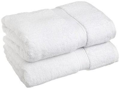 Ocean Enterprises Plain Cotton Bath Towel - Set of 2