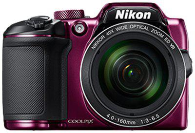 Nikon Coolpix B500 16 MP High Zoom Point & Shoot Camera (Purple) plus HDMI Cable plus Carry Case plus 16GB SD Card
