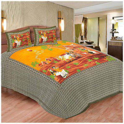 Chokor Jaipuri Cotton Double Bedsheet