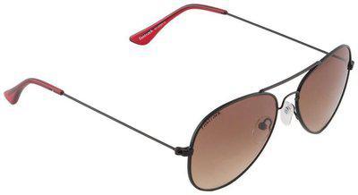 Fastrack Springers Aviator Sunglasses (Black) (M139BR1F)