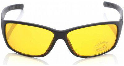 FASTRACK GUYS UV PROTECTED AMBER SPORTY WRAP SUNGLASSES
