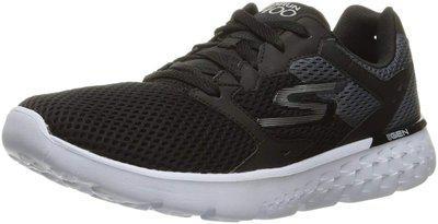Skechers Men's Black White Go Run 400 Sneakers/India (44.5 EU)()(54350-BKW)