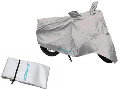 Mototrance Silver Bike Body Cover For Hero Motocorp HF Deluxe